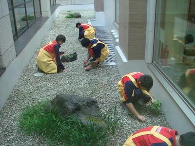 西多賀病院にて清掃